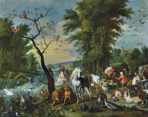 Jan Brueghel the Younger. Noah's Ark entry