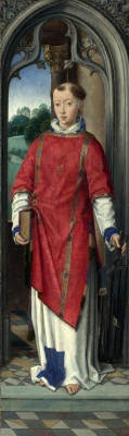 Hans Memling. Saint Lawrence. Triptych, Magagnotti. Right wing