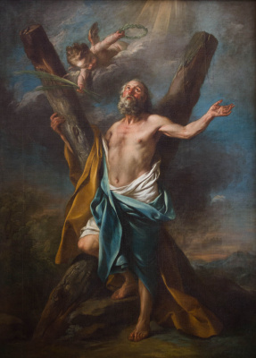 Charles Andre van Loo. Saint Andrew, around his cross