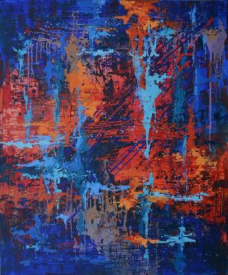 """Рассвет"", акрил, холст. Dawn. Acrylic on Canvas."
