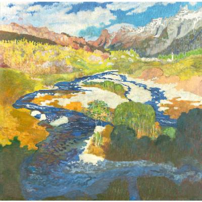 Giovanni Giacometti. Spring mountain landscape