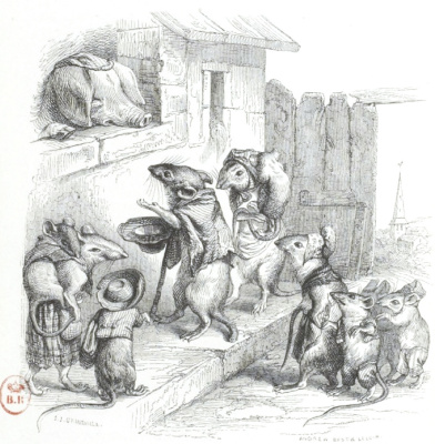 "Jean Inias Isidore (Gerard) Granville. Go to hell, I myself am short! .. ""Scenes of public and private life of animals"""