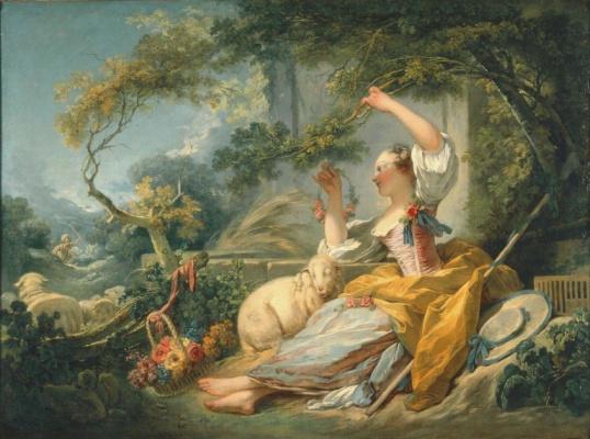 Jean Honore Fragonard. Shepherdess