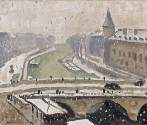 Albert Marquet. Snow in Paris