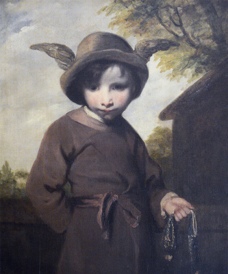 Joshua Reynolds. Mercury with a stolen wallet (Portrait of a young pickpocket in the image of Mercury)