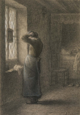 Jean-François Millet. For the morning toilet