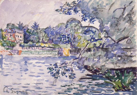Paul Signac France 1863 - 1935. The banks of the Seine. About 1901