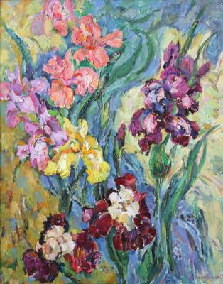 Oksana Viktorovna Zalevskaya. Irises