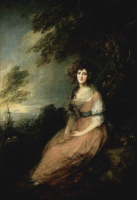 Thomas Gainsborough. Portrait of Mrs. Richard B. Sheridan, wife of the playwright
