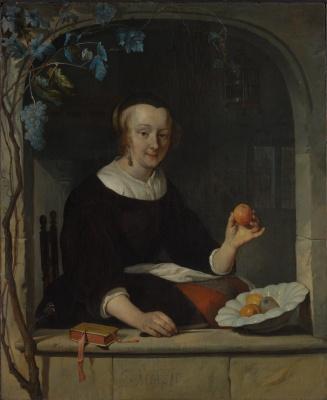 Габриель Метсю. Женщина, сидящая у окна