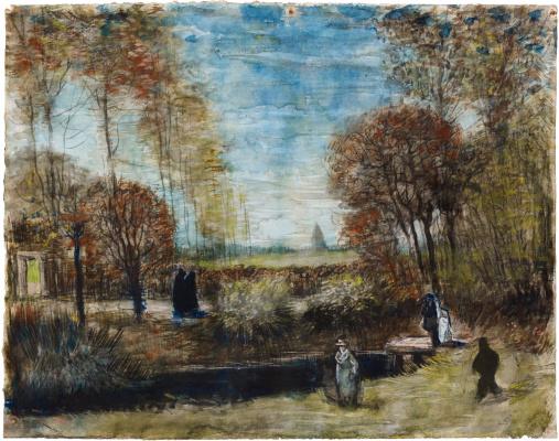 Vincent van Gogh. Garden at the church in Nuenen