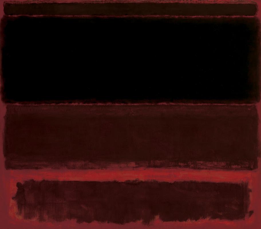 Марк Ротко. Четыре темные отметины на красном