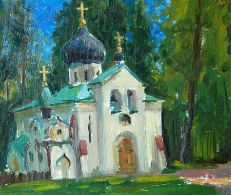 Alexander Matyukhin. A study in Abramtsevo