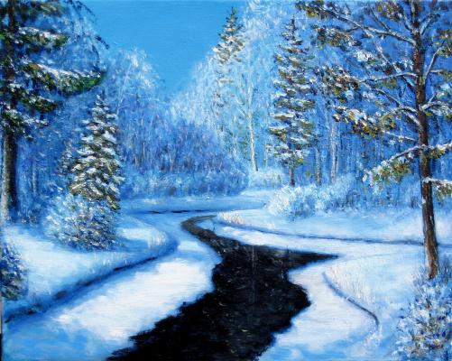 Vladimir Skvortsov. Winter creek