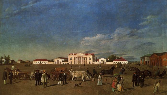 Александровская площадь в Полтаве