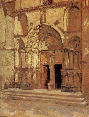 Грант Вуд. Ворота церкви Св. Эмилии
