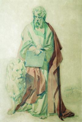 Иван Кузьмич Макаров. Евангелист Марк. 1850 Этюд