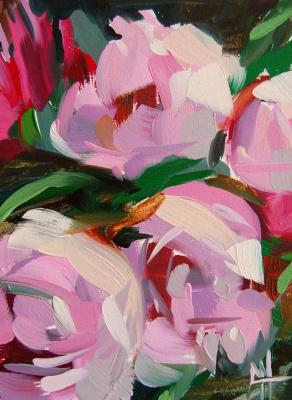 Анджела Моултон. Розовые пионы