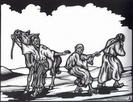 Svyatoslav Nikolaevich Roerich. Graphic work based on Oriental fairy tales