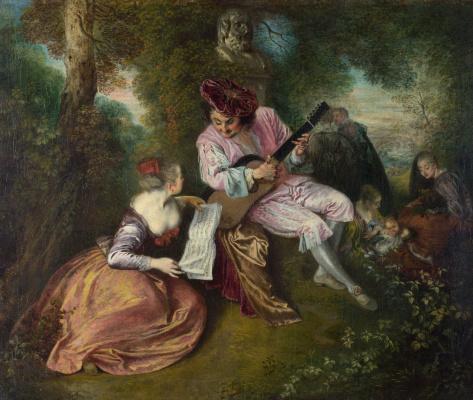 Antoine Watteau. Love song