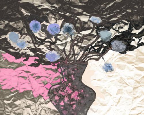 Svetlana Sisina. Blue flowers