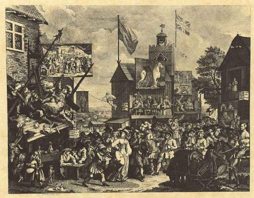 William Hogarth. Fair in Southwark