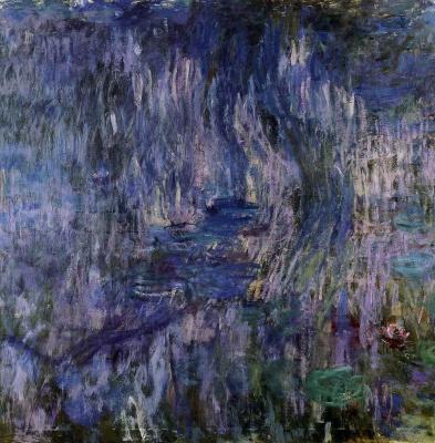 Клод Моне. Водяные лилии, отражение плакучей ивы