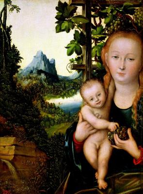Lucas Cranach the Elder. Madonna and child (Madonna in the vineyard)