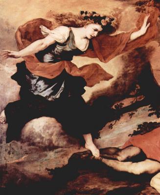 Jose de Ribera. Venus and Adonis. Detail: Venus