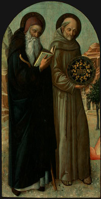 Якопо Беллини. Святой Антоний и Святой Бернардино