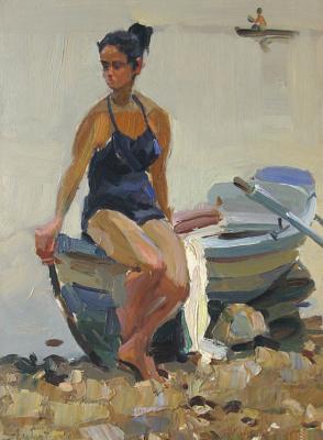 Petr Filippovich Alberti. The girl in the boat.
