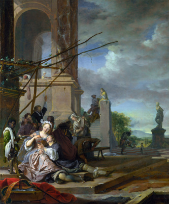Ян Баптист Веникс. Итальянский дворик
