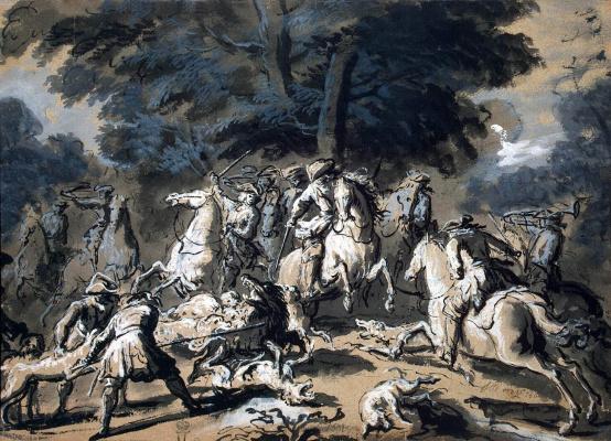 Жан-Батист Удри. Охота на кабана