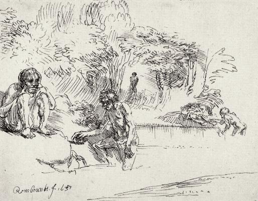 Rembrandt Harmenszoon van Rijn. Bathers
