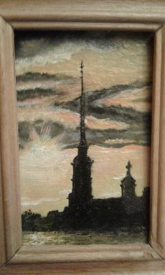 Koroleva Tatyana. Petrospirt at sunset