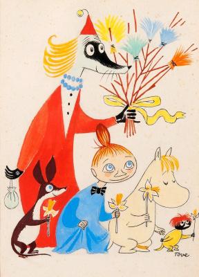 Tove Jansson. Happy easter! Moomin characters