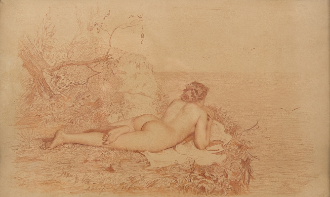 Victor Alekseevich Bobrov. Nude by the sea.