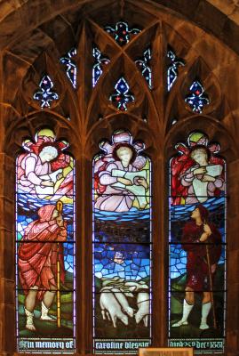 Уильям Моррис. Ранние годы Христа. Витражное окно северной галереи Всех Святых