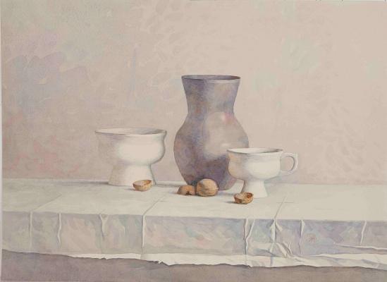 Alexander Leonidovich Mukhin-Cheboksary. Pottery and Nuts
