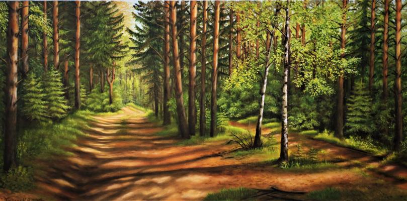 Natalia Viktorovna Tyuneva. Road in the forest