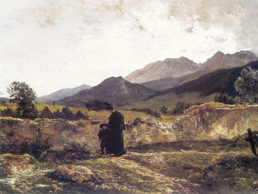 Войцех Герсон. Кладбище в горах
