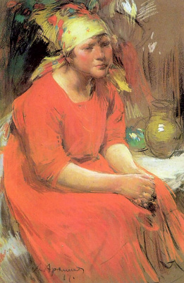 Abram Arkhipov. A peasant girl