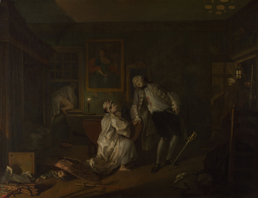William Hogarth. A fashionable marriage. Part 5. The duel and death of count