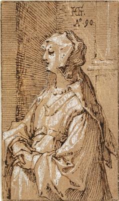 Хендрик Гольциус. Женщина с вуалью.
