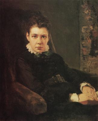 Vasily Dmitrievich Polenov. Portrait of Vera Dmitrievna Khrushcheva, the artist's sister