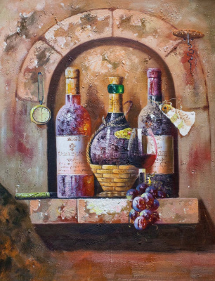 Savely Kamsky. Wine Still Life N3 with Chianti