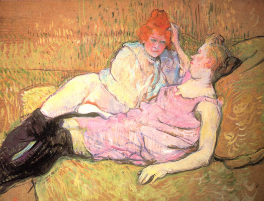 Henri de Toulouse-Lautrec. The sofa