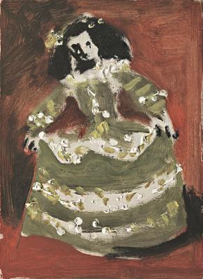 Pablo Picasso. Las Meninas (Isabel de Velasco). Interpretation No. 46