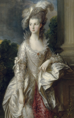 Thomas Gainsborough. Portrait of the honourable Mrs. Mary Graham. Fragment