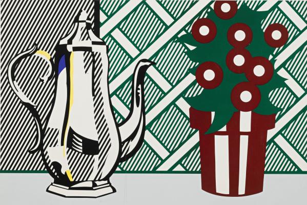 Рой Лихтенштейн. Натюрморт с кувшином и цветами